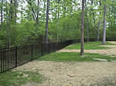 black aluminum fence installed in Powhatan, Virginia