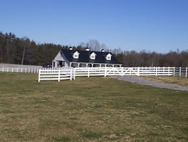 Vinyl ranch style fence for horses